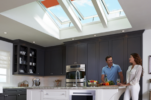 Velux Skylights with Couple Talking
