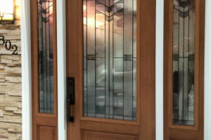 Masonite Doors Brown Glass Door