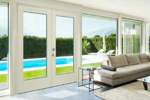Masonite Doors - White Glass Doors