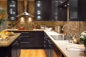 Merillat Dark Kitchen Cabinets