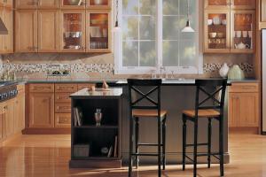 Merillat Wood Cabinets in Kitchen
