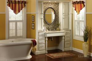 Merillat White Cabinets in Bathroom