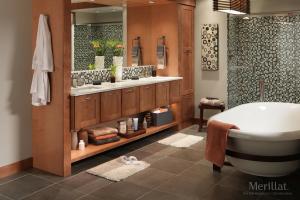Merillat Cabinets in Bathroom