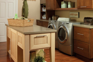 Merillat Wood Cabinets in Laundry Room