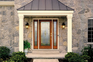 Therma-Tru Doors Brown Wood Door
