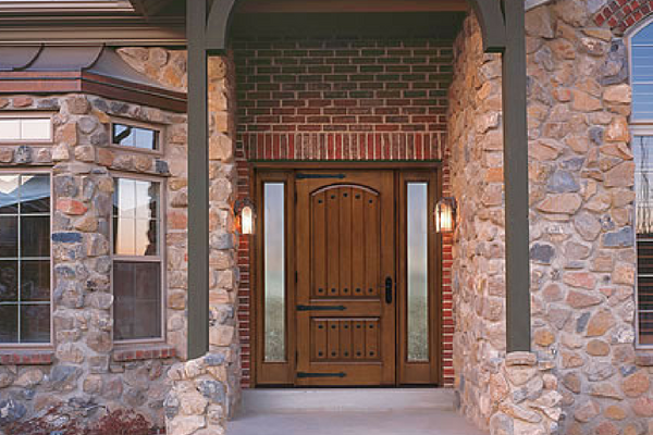 Therma Tru Doors Brown Wood Door ...