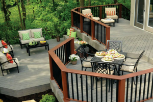 Timbertech Brown Decking Brown Railing