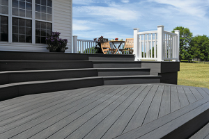 Timbertech Dark Decking White Railing