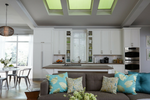 Velux Skylights in Kitchen and Living Room