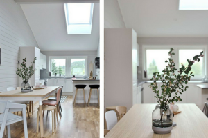 Velux Skylights in Kitchen