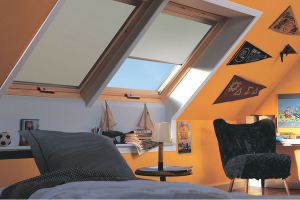 Velux Skylights Orange Bedroom