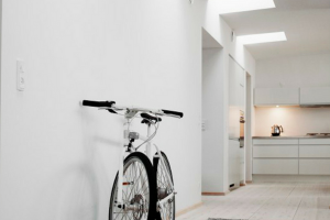 Velux Skylights with Bicycle in Corner
