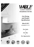 Wolf Classic Cabinets Product Specifications